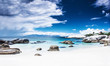 Paradise beach panoramic landscape