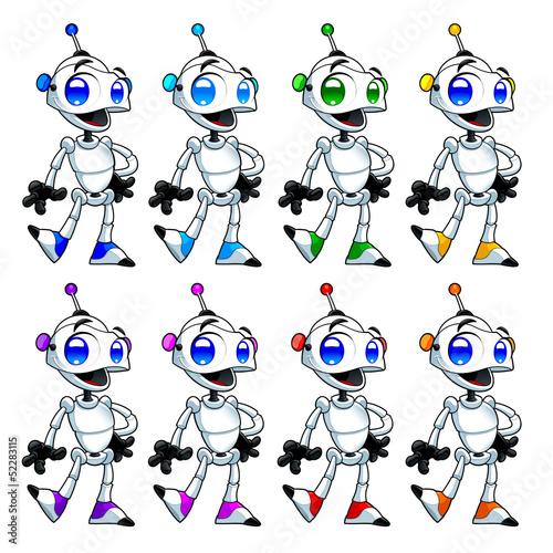 Fotobehang Robots Funny robots.