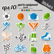 sports equipment stickers