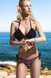 impatient girl in bikini