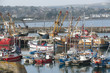 Newlyn Cornwall UK fishing boats in the harbour