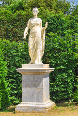 statue of Athena in the Gardens of Versailles, France