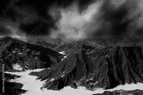 Fototapeten,nebel,baum,see,dunkel