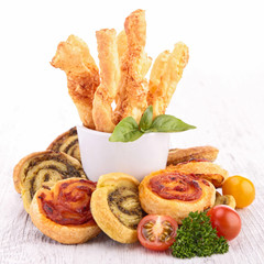 assortment of puff pastries appetizer