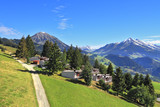 Gorgeous weather in the resort town of Leysin in the Swiss Alps.