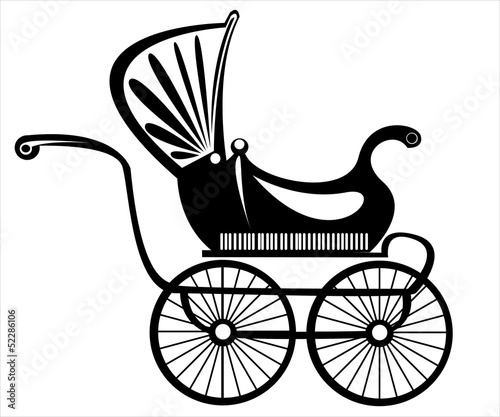 retro buggy vector on white background