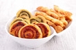 assortment of puff pastry