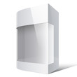 Realistic White Package Box with rounded corner