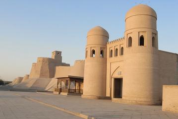 Vue des remparts de Itchan Kala à Khiva.