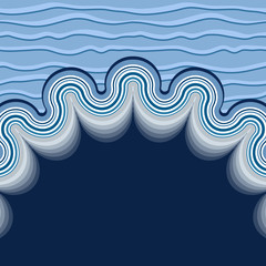 Wavy sea background