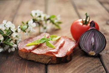 Sandwich with salami