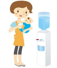 赤ちゃんのミルク ウォーターサーバー