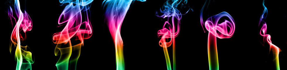 Multicolored smoke collection