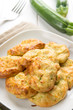 Fritters of zucchinis and ricotta cheese