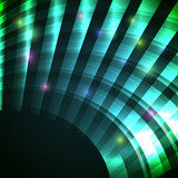 Modern background with neon green arc, eps10