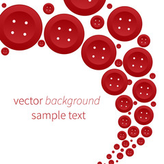 Vector background with red buttons
