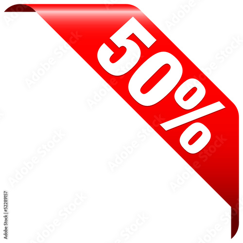 """Banner """"50%"""" Red"""
