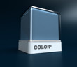 Blue gray color block