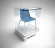 Design blue chair showcase