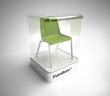 Design green chair showcase