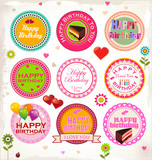 Happy birthday stamp collection
