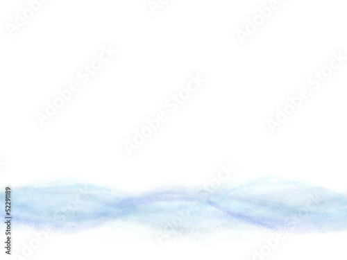 Abstract blue wave background with white copy space