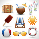 Fototapety Summer icons