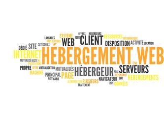 Hébergement web (tag cloud français)