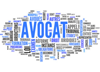 Avocat (tag cloud français)