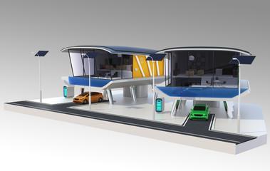 Energy efficient  house community concept