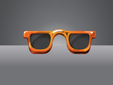 Sunglass Orange Vector