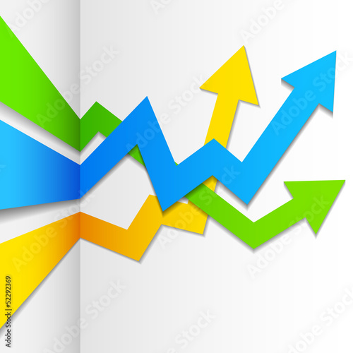 Infographics Upward Arrow