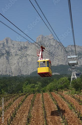 cableway to Ai-Petri mountain, Crimea, Ukraine