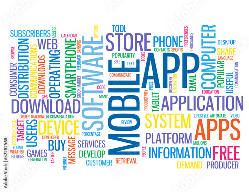 """MOBILE APP"" Web Button (download application smartphone apps)"