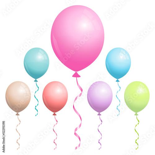 Pastel Birthday Balloons