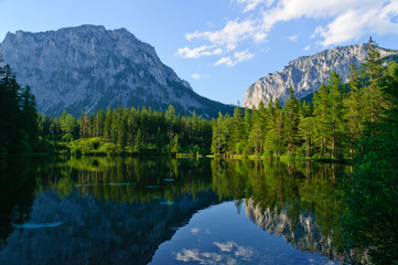 Green lake (Grüner see) in Bruck an der Mur, Austria