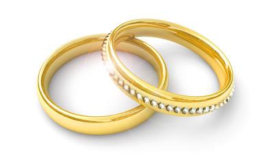 Ringe mit Diamanten, Konzept Hochzeit