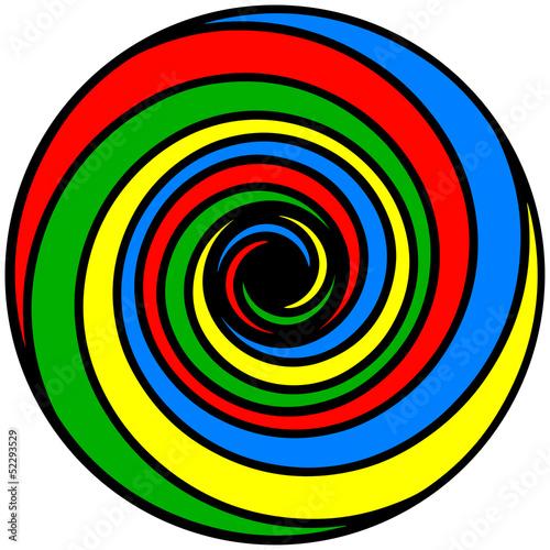 Foto op Plexiglas Spiraal Colour Spiral ( Farben Spirale )