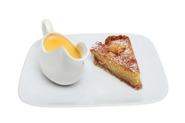 bakewell tart and custard