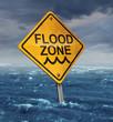 Leinwanddruck Bild - Flood Warning