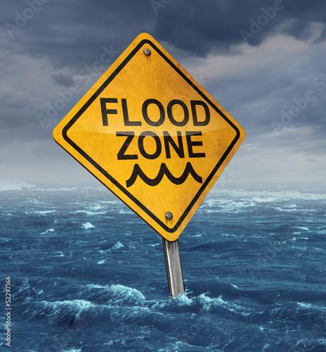 Leinwanddruck Bild Flood Warning
