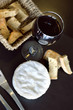 Fromage, camembert, vin, vin rouge, pain, brunch