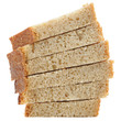 Sliced Brown Bread Isolated on White Background