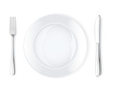 Dinner place setting, vector illustration
