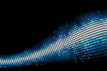Abstract blue light mosaic vector background