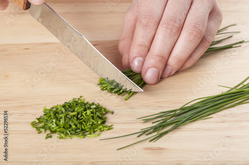 Chopping the chive