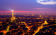 Quadro View of Paris by night