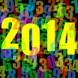 2014 new year vector illustration
