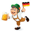 canvas print picture - Funny Oktoberfest Man. Illustration
