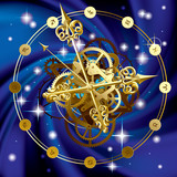Fototapety Star clock